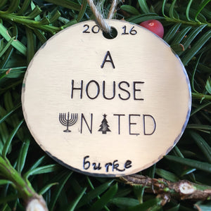 Interfaith Christmas Ornaments/Hanukkah Decorations/Jewish Christmas Ornaments/A House United™/Interfaith Ornaments/Jewish Ornaments
