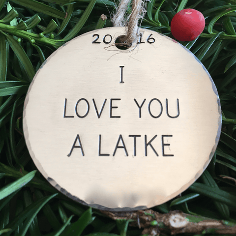 I Love You a Latke/Hanukkah Decorations/Jewish Christmas Ornament/Hanukkah Ornaments/Funny Ornament/Latkes/Chrismukkah/Gift Tage/Interfaith