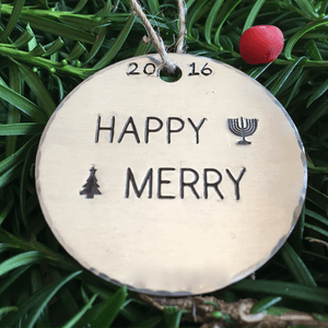 Happy Merry/Happy Hanukkah/Merry Christmas/Happy Merry/Hanukkah Decoration/Fusioned Family/Judeo Christian/Interfaith/Gift for Jewish Family