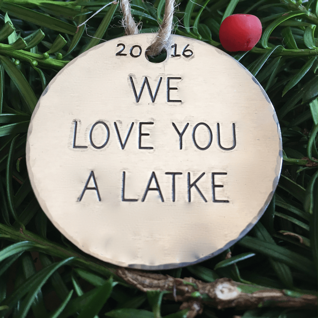 We Love You a Latke/Hanukkah Decorations/Jewish Christmas Ornament/Hanukkah Ornaments/Funny Ornament/Latkes/Chrismukkah/Gift Tage/Gift Tag