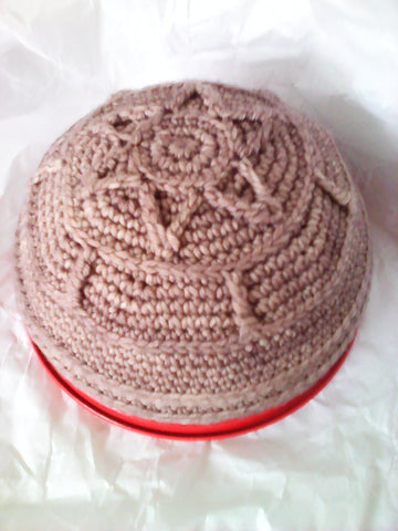 Frik Kippah Merino Wool Crocheted Star of David Design