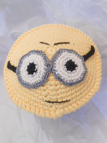 Minion Kippah Fun Cotton Yarmulke for Younger Kids