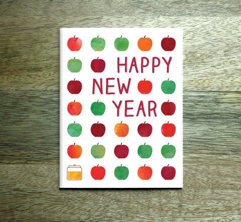 Rosh Hashanah Cards - Happy New Year - Set Of 4