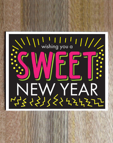 Rosh Hashanah Cards - Sweet New Year - Set of 4