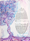 "Ketubah by Sandrine Kespi-Interfaith version-Printable pdf ready to fill-17x23""."