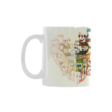 Alef Bet heart shape Ceramic mug -