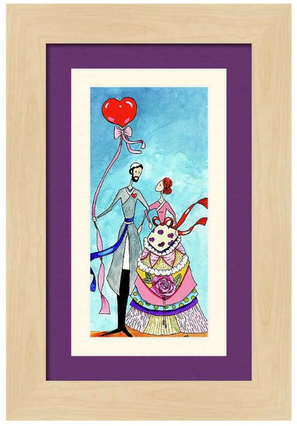 'Happy Together' Jewish wedding announcement, love, romantic gift