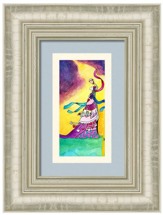 Romantic husband wife gift Judaica 'Promise' Art