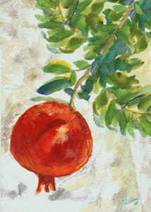 """Pomegranate"" Jewish New Year Card"