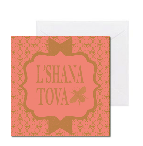10 Pack L'Shana Tova Vintage Bees Card for Girls