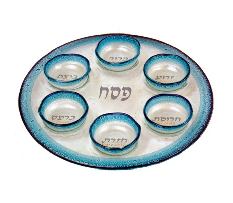 Glass Seder Plate by Itay Mager