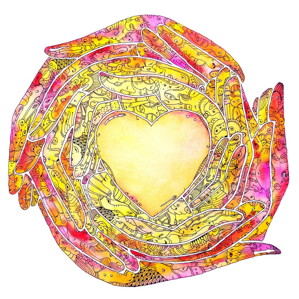 Circle of Love Art Print