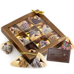 9 Piece Hand Dipped Hamantash & Chocolate Card Shalach Manos (FREE SHIPPING)