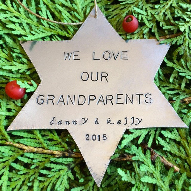 Star of David Ornament - Grandparents