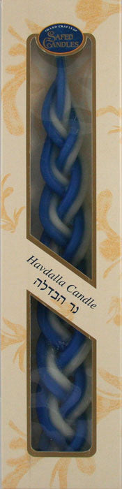 Havdalah Candle - Blue/White