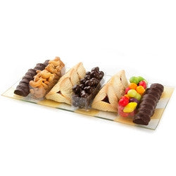 Gorgeous Glass Purim Platter (FREE SHIPPING)