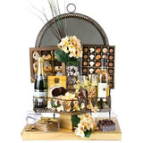 Ornate Mirror Purim Food Basket (FREE SHIPPING)