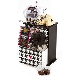 Purim Elegant Houndstooth Treasure Box Gift Basket