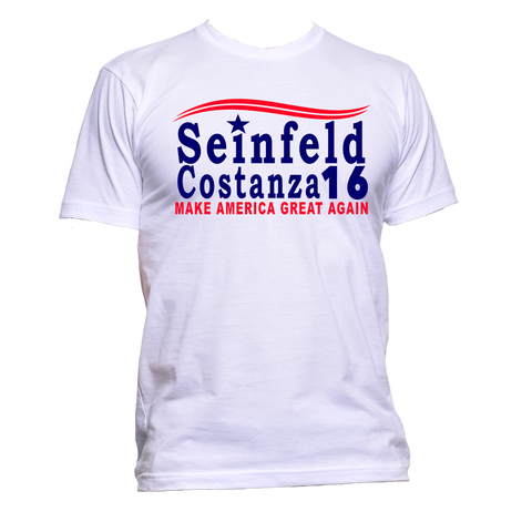 Seinfeld Costanza Presidential Campaign White Tee Shirt
