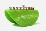 Shalom Green Menorah by Marcela Rosemberg