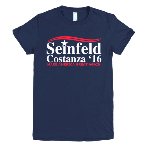 Seinfeld Costanza Womens T-Shirt—Make America Great Again