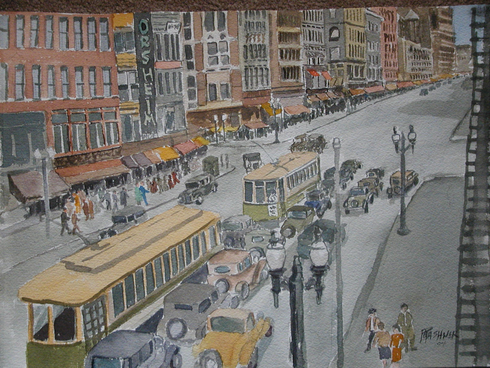 Rochester, New York Watercolor: Jewish Paintings by Artist Martin Potashner