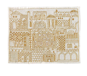 Jerusalem in Gold Challah Cover