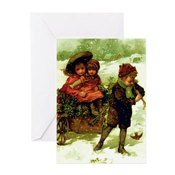 """Sled Ride"" Holiday Cards 10 Pack With Envelopes"