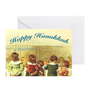 Vintage Inspired Menorah Hanukkah Cards-10 Pack With Envelopes