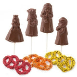 Chocolate Purim Megilla Character Lollipops (FREE SHIPPING)