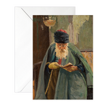 Jewish Greeting Cards—Man Reading Torah