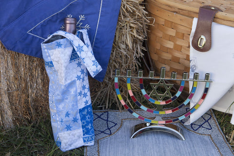 Wine/Gift bags (Blue Chanukah)
