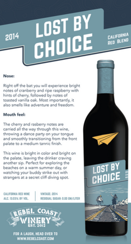 Lost by Choice 2014 Tasting Notes