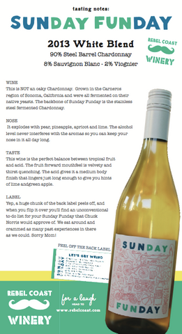 Sunday Funday 2014 Tasting Notes