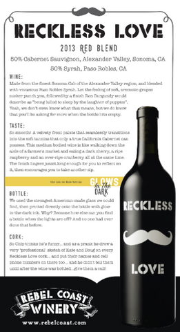 Reckless Love 2013 Tasting Notes