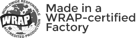 Made in a WRAP-certified Factory