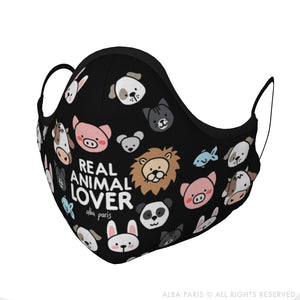 Real Animal Lover Face Covering With Filter Pocket