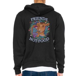 Friends Not Food Unisex Zip Hoodie