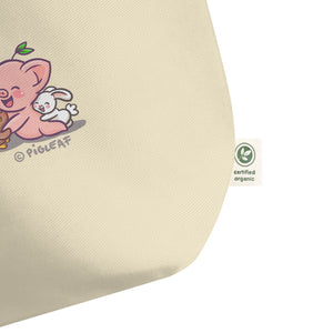 """Pigleaf Love Wins"" Organic Shopping Bag"