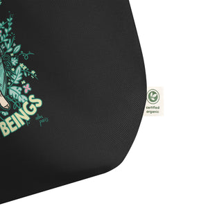 """Love All Beings"" Organic Shopping Bag"