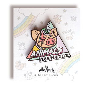 """Animals Are Magical"" Hard Enamel Pin"