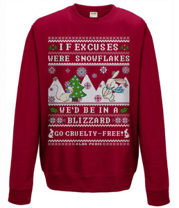"""No Excuses"" [cruelty-free] *LIMITED EDITION* Holiday Sweatshirt"
