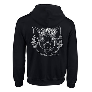 """Someone to Respect"" Pig Unisex Zip Hoodie"