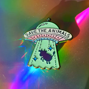 """Save The Animals"" Soft Enamel Pin (SPECIAL EDITION)"