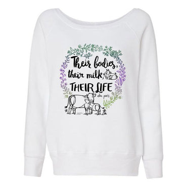 """Their Milk"" Off Shoulder Sweatshirt"