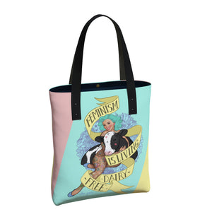 """Feminism is Living Dairy-Free"" Urban Tote Bag"