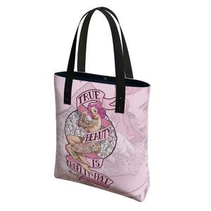 """True Beauty is Cruelty-Free"" Urban Tote Bag"