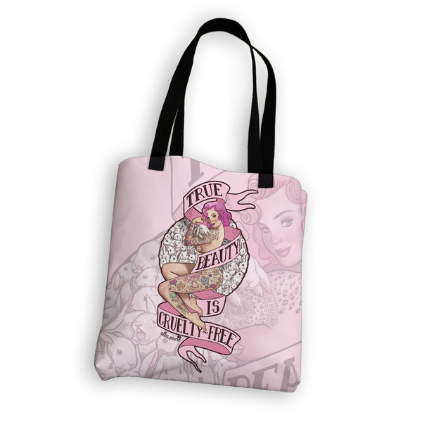 """True Beauty is Cruelty-Free"" Tote Bag"