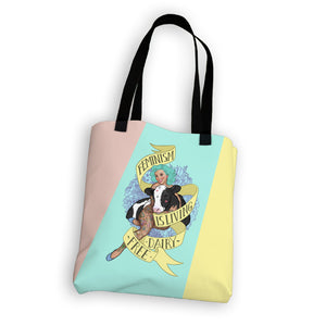 """Feminism Is Living Dairy-Free"" Tote Bag"