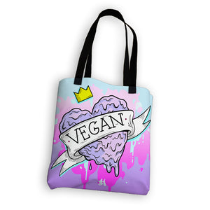 """Vegan Heart"" Tote Bag"